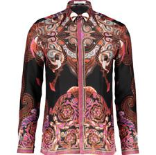 cff32361 New Versace Collection Batik Print Silk Shirt - Size 38 or 40