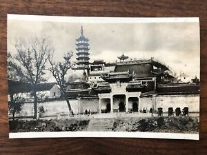 CHINA OLD PHOTO CHINESE TEMPLE HANGCHOW CHEKIANG !!