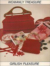 Macrame Mother Daugter Purse Patterns #1918 Macra-Mates - Vintage
