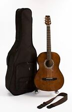 Left Handed Acoustic Steel String Guitar Size Children 10 - Adult Strap & Case