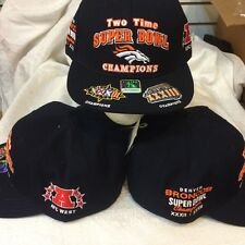 2e5ad1d8965 Denver Broncos Fitted Hat Size 7-7 8 - NFL 2 Time Super Bowl