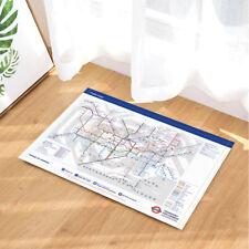 """Mayor Of London Subway Map Bathroom Rug Non-Slip Floor Door Mat Flannel 16x24"""""""