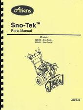 Ariens 920400,920401 Sno-Tek 24/26 Parts Manual
