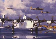 B-24 LIBERATOR B25 MITCHELL MARTIN BALTIMORE aeromobili piano vuoto compleanno carta