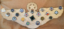 * Custom * USAF Enlisted Aircrew 20-Challenge Coin display / holder - wall mount