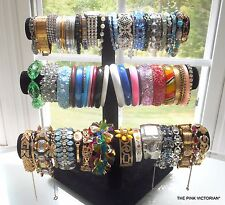70pc Vintage to Modern FASHION BRACELET lot BANGLES, STRETCH BANDS, RHINESTONES