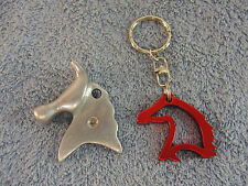 HORSE HEAD KEYRING KEY RING BOTTLE OPENER TAB LIFTER TSC TRACTOR SUPPLY CO LOT 2