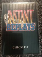 """1994 Ted Williams Football Roger Staubach """"INSTANT REPLAYS"""" CHECKLIST"""