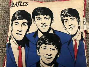 Vintage  The Beatles Pillow Official Nordic House Beatle Pillow RED With Tags