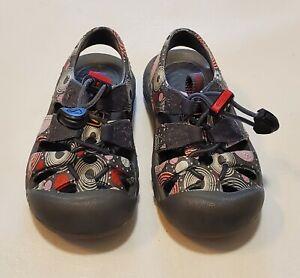 Keen Sandals Toddler 4 Gray Pink Waterproof Barberry Swirls Sport Shoes Sunport