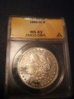 1882 CC Carson City Morgan Silver Dollar MS62 DMPL