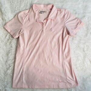NikeGolf Tour Performance Shirt DRI-FIT Pink Size Womens Medium SS