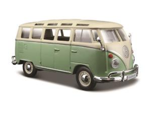 Volkswagen VW Van Samba GREEN 1:25 Scale Die-cast Metal Model Toy Van Maisto