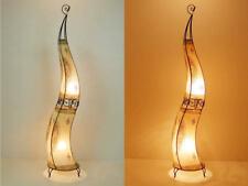 Marroquí Lámpara de Cuero Luz XXL Henna Pie Hissan H150 Naturaleza Nueva