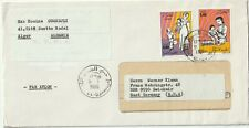 1986 Algeria cover sent from Alger to Zwickair East Germany