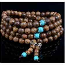 Cool Sandalwood Buddhist Buddha Meditation Prayer Bead Mala Bracelet Necklace FT
