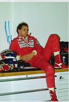 Gerhard Berger Hand Signed Ferrari 12x8 Photo F1 1.
