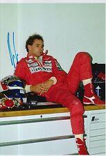 Gerhard Berger Hand Signed Ferrari 12x8 Photo F1 1.