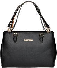 Borsa A Mano Donna Nera Ermanno Scervino Bag Woman Black New Anya