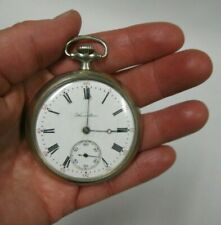 Antique Vintage Hamilton Openface 17 Jewels Nickle Pocket Watch