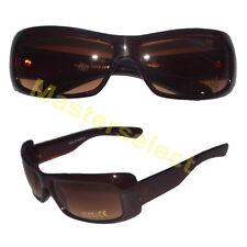 ba95559a108d4 Paire lunettes masque de soleil pour femme de couleur Marron  5