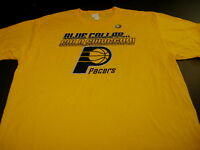 Indiana Pacers NBA Basketball Team Blue Collar Gold Swaggar T-Shirt New! NWT XL