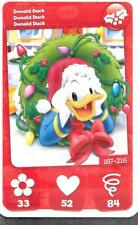 Carte Mickey Mouse & Friends - n° 187 - Donald Duck - Noël - 2012
