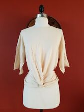 ZARA TOP WITH FRONT KNOT BLOUSE SIZE S