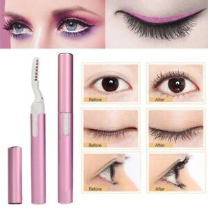 Portable Electric Heated Eyelash Curler Pen Eye lashes Long Lasting Makeup Tools