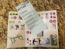 Continental Airlines B777-200 Safety Information Card (6/10)