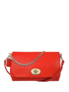 NWT Coach Crossgrain Mini Ruby Crossbody Handbag in Cardinal F 34604 $295