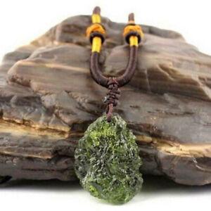 Natural Crystal Green Gem Moldavite Meteorite Impact Glass Necklace Pendant US