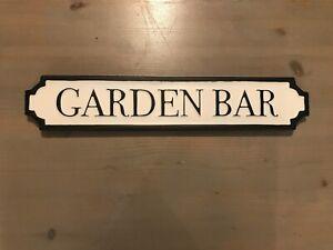 Garden Bar Vintage Road Street Sign Retro Metal plaque gift man cave