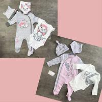 Baby Girl 0 - 12 Months Disney Bambi / Minnie 4 Piece Set Babygrow Vest Hat Bib