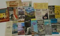 Lot 15 California State Travel Brochures Maps Golden Gate Catalina  1900s Parks