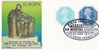 30 NOV 1974 WINSTON CHURCHILL / EUROPA 3 1/2p SOUVENIR SHEET CAFE ROYAL SHS