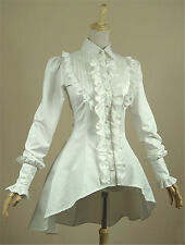 Vintage falbala Gothic Shirt SteamPunk Court Lolita Blouse Long sleeve tops Lady
