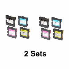 2 Pack Ricoh Aficio GX e7700N e5550N e3350N e3300N Ink Cartridge Set B C M Y
