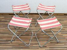 4x chaise pliante ancienne rda,Chaise de camping,SET Chaise Rétro Culte