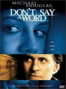 Don't Say A Word DVD Michael Douglas, Sean Bean, Brittany Murphy 2001 Movie