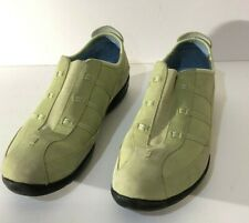 Clarks Womens Size 9.5W Slip On Comfort Shoes Light Green