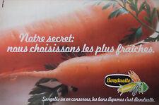 PUBLICITÉ 1979 BONDUELLE SURGELÉS OU EN CONSERVES LÉGUMES - CAROTTE- ADVERTISING