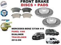 FOR MERCEDES CITAN 415 1.2 1.5 CDI 2012- FRONT BRAKE DISCS SET + BRAKE PADS KIT