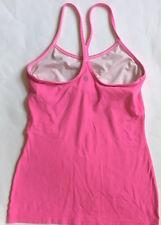 LULULEMON Power Y Tank Top w Shelf Bra Paris Pink  size 6 Yoga Gym Spin Run
