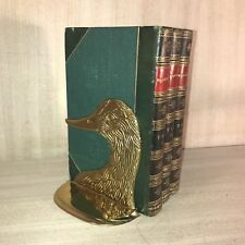 Vintage•Solid Brass•Duck Head•Book Ends