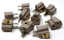 Convert 3 Prong to 2 Prong AC Wall Outlet Cord End Adapter Polarized  100 Pack
