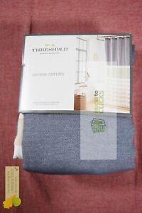 "Threshold- Textured Stripe Fabric Shower Curtain Indigo, 72"" x 72"""