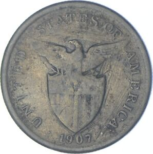 Better Date - 1907 Philippines 1 Peso - SILVER *571