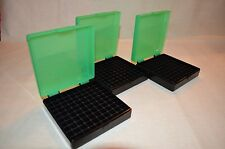 (3) 9 MM / 380 AMMO BOXES / STORAGE (ZOMBIE GREEN COLOR) BERRY MFG