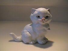 Vintage West Germany Goebel White Matte Finish Kitty Cat - 62154